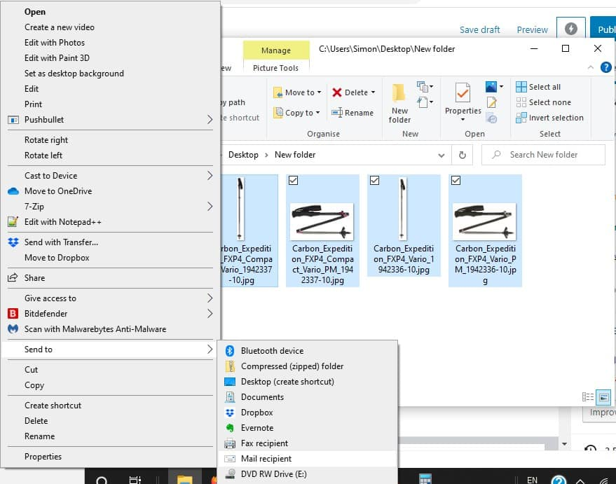 Redimensionar les fotos al Windows 10